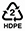 HDPE Recycle Symbol